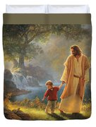 Take My Hand Duvet Cover by Greg Olsen