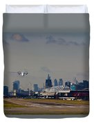 Take Off From London Duvet Cover