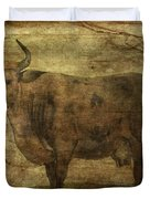 Take The Cow By The Horns Duvet Cover