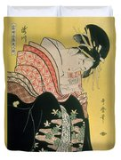 Takigawa From The Tea House Ogi Duvet Cover