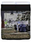 Taking Out The Garbage - Sarasota - Florida Duvet Cover