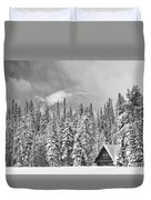 Taking Refuge - Grand Teton Duvet Cover by Sandra Bronstein