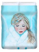 Talini Little Snow Angel Bringing Warmth On Cold Days Duvet Cover