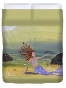 Talking To The Fishes Duvet Cover