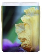 Tall Bearded Iris Named Final Episode Duvet Cover