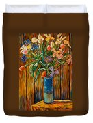 Tall Blue Vase Duvet Cover