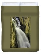 Tall Canyon Waterfalls Duvet Cover