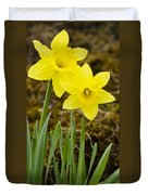 Tall Daffodils Duvet Cover