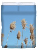 Tall Feathered Grass Hits Sky Duvet Cover