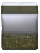 Tall Grass And View Of Bridge Duvet Cover