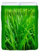 Tall Green Grass Duvet Cover