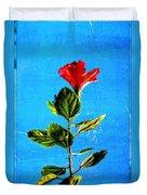 Tall Hibiscus - Flower Art By Sharon Cummings Duvet Cover