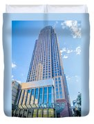 Tall Highrise Buildings In Uptown Charlotte Near Blumental Perfo Duvet Cover