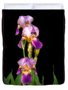 Tall Iris Duvet Cover