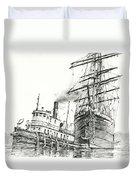Tall Ship Assist Duvet Cover