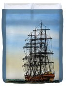 Tall Ship Beauty Duvet Cover