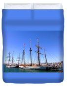 Tall Ships Big Bay Duvet Cover