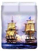 Tall Ships Uss Essex Captures Hms Alert  Duvet Cover