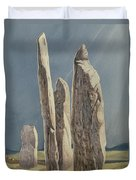 Tall Stones Of Callanish Isle Of Lewis Duvet Cover by Evangeline Dickson