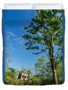 Tall Tree And Temple Duvet Cover