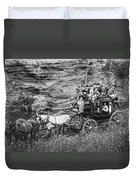 Tallyho Stagecoach Party C. 1889 Duvet Cover by Daniel Hagerman