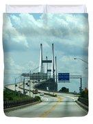 Talmadge Memorial Bridge In Savannah Georgia  Duvet Cover