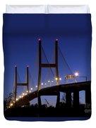 Talmadge Memorial Bridge Savannah Duvet Cover