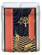Tamara Karsavina Duvet Cover by Georges Barbier