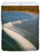Tamarin Bay Surf Going Off Duvet Cover