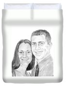 Tamir And Sarah Duvet Cover