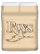 Tampa Bay Rays Logo Art Duvet Cover