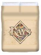 Tampa Bay Rays Vintage Art Duvet Cover
