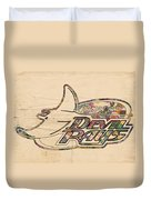 Tampa Bay Rays Vintage Logo Duvet Cover