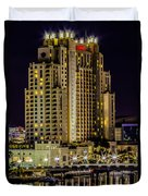 Tampa Marriott Waterside Hotel And Marina Duvet Cover