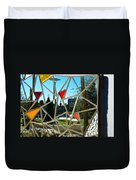 Tampa Seen Through Art Duvet Cover