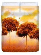 Tangerine Trees And Marmalade Skies Duvet Cover by Mo T