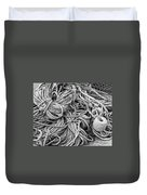 Tangled Rope And Lobster Fishing Gear On Dock Maine Duvet Cover
