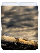 Tank Cars Duvet Cover by Bob Orsillo