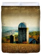Tanner Hill Farm In The Fall Connecticut Usa Duvet Cover