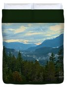 Tantalus Mountain Afternoon Landscape Duvet Cover