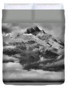 Tantalus Mountain Storms Duvet Cover