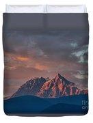 Tantalus Mountain Sunset - British Columbia Duvet Cover