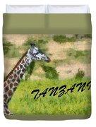 Tanzania Poster Duvet Cover