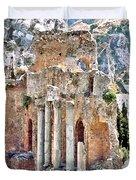 Taormina Amphitheater Duvet Cover
