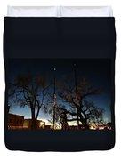 Taos At Night Duvet Cover