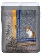 Taos Cat Duvet Cover