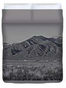 Taos In Black And White II Duvet Cover
