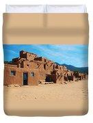 Taos Pueblo 4 Duvet Cover
