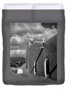 Taos Pueblo Church Duvet Cover