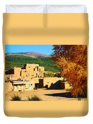 Taos Pueblo South In Autumn Duvet Cover